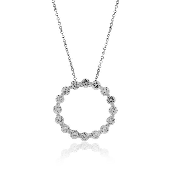 Signature Forevermark Diamond Circle Pendant 18K, 2 ctw.