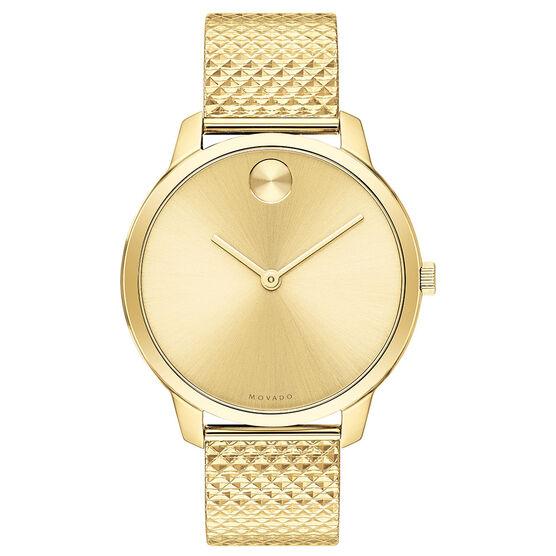 Movado Bold Museum Gold-Tone Metallic Watch