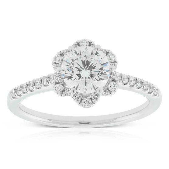 Signature Forevermark Floral Diamond Halo Ring 18K, 1 ct. Center