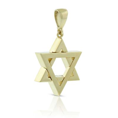 Star of David Pendant 14K
