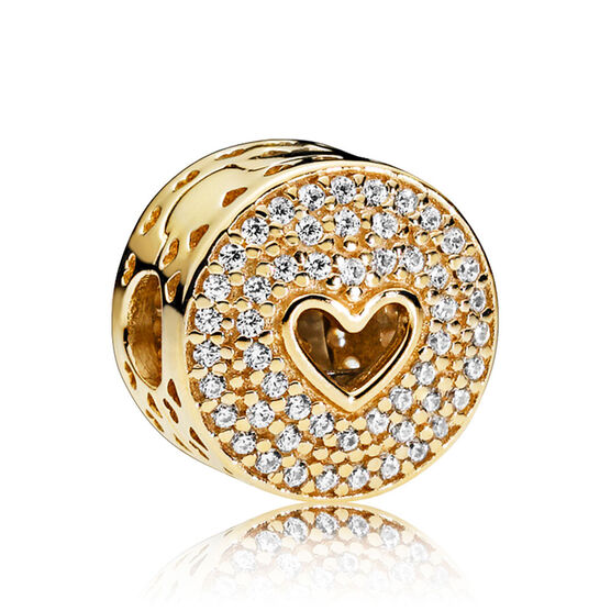 Pandora Heart of Luxury CZ Clip 14K