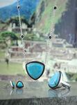 Lisa Bridge Turquoise & Black Sapphire Earrings
