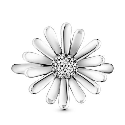 Pandora Pavé Daisy Flower Statement CZ Ring