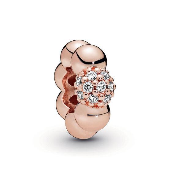 Pandora Rose™ Purely Pandora Polished & Pavé CZ Bead Spacer Charm