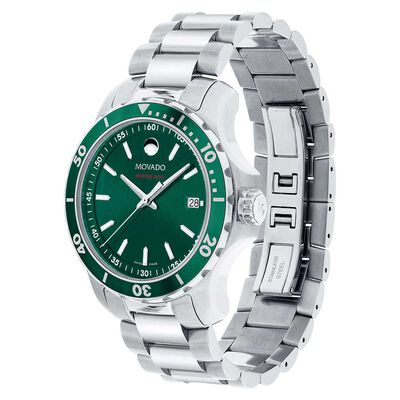 Movado Series 800 Green Dial & Bezel Watch