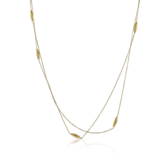 Teardrop Station Necklace 14K, 40""