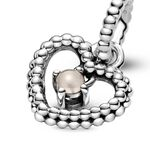 Pandora Purely Pandora Misty Rose Crystal Beaded Heart Dangle Charm