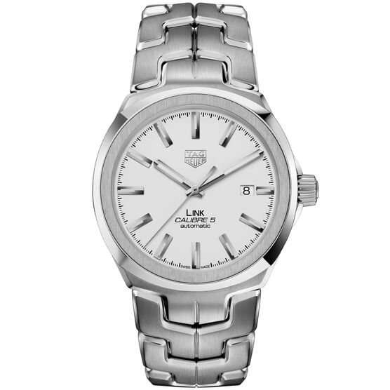 TAG Heuer Link Calibre 5 Automatic Mens Silver Steel Watch