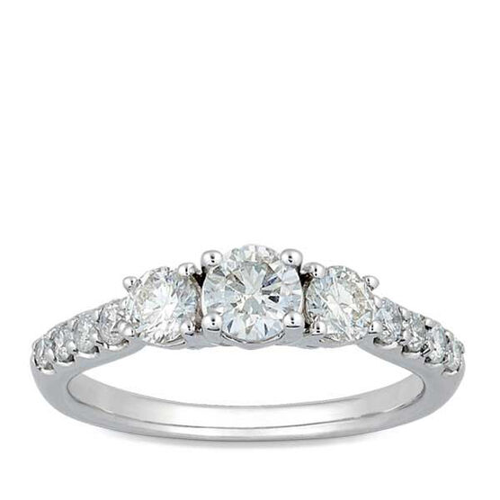 Diamond 3-Stone Ring 14K