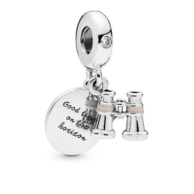 Pandora Heart Binoculars Dangle CZ & Enamel Charm
