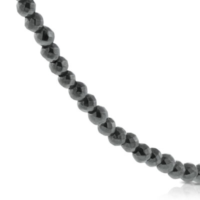 Lisa Bridge Hematite Bead Necklace