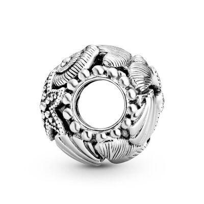 Pandora Openwork Starfish, Shells & Hearts Charm