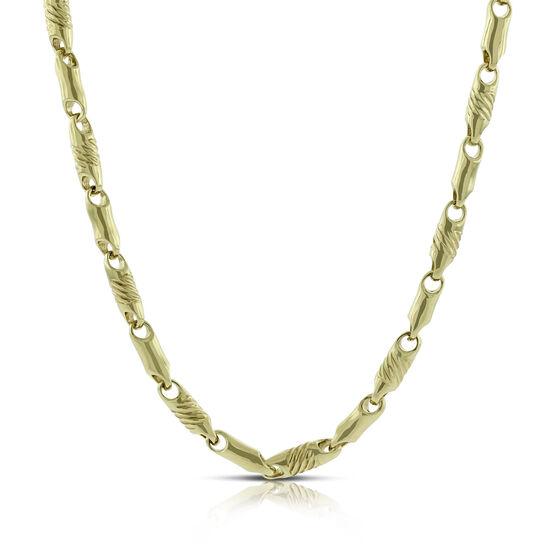 """Toscano Stampado Necklace 14K, 23.5"""""""