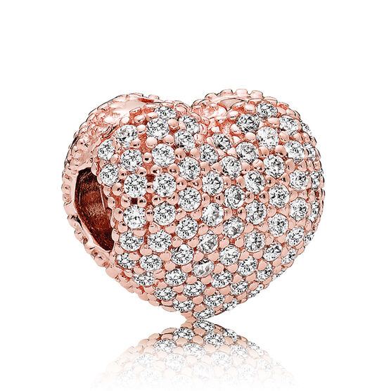 Pandora Rose™ Pavé Open My Heart CZ Clip