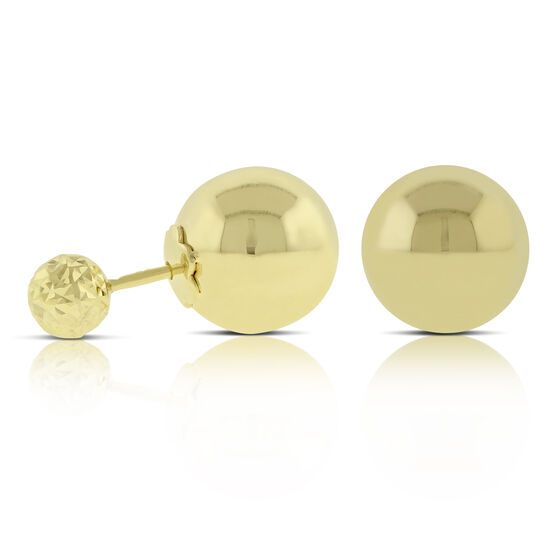 Double Ball Earrings 14K