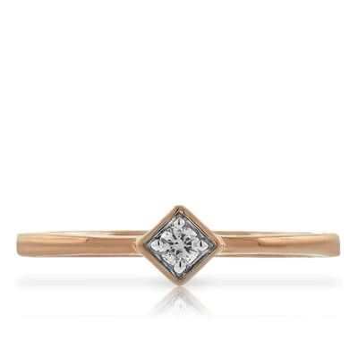 Rose Gold Diamond Ring 14K