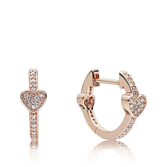 Pandora Rose™ Alluring Hearts CZ Hoop Earrings