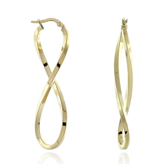 Figure Eight Hoop 14K