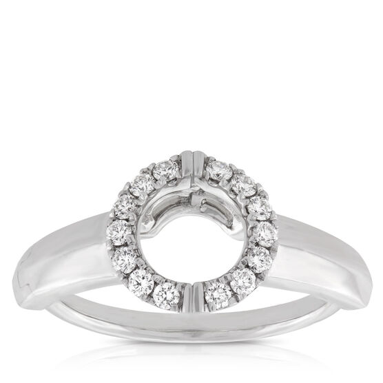 Diamond Insert Ring 14K