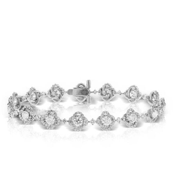 Signature Forevermark Flower Tennis Bracelet 18K