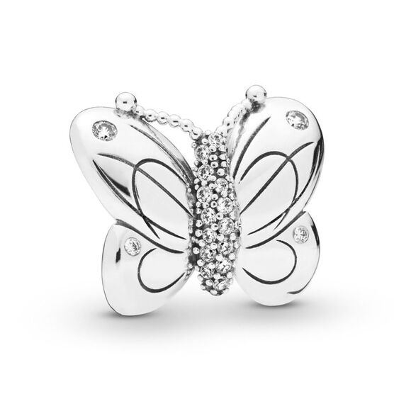 Pandora Oversized Decorative Butterfly CZ Clip
