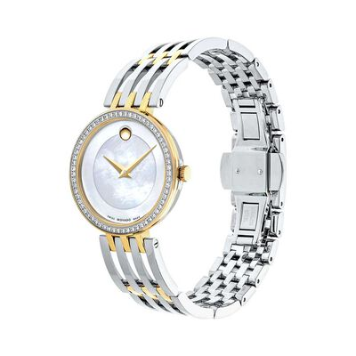 Movado Esperanza Diamond & Mother of Pearl Two-Tone PVD Watch