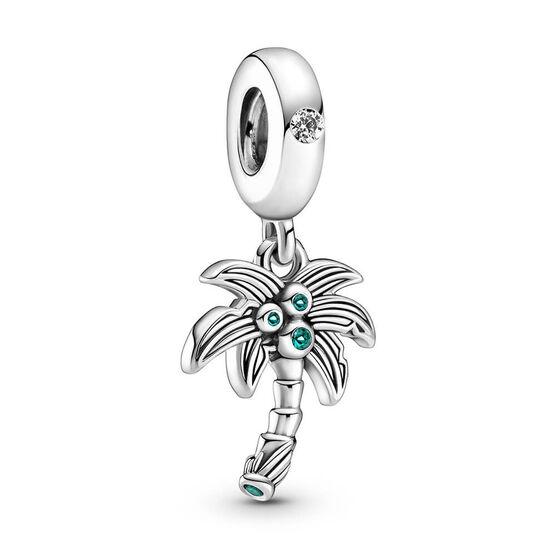 Pandora Palm Tree & Coconuts Crystal & CZ Dangle Charm