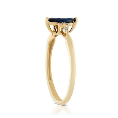 Marquise Sapphire & Diamond Ring 14K
