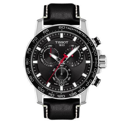 Tissot Supersport Chronograph Black Dial Watch, 45.5mm