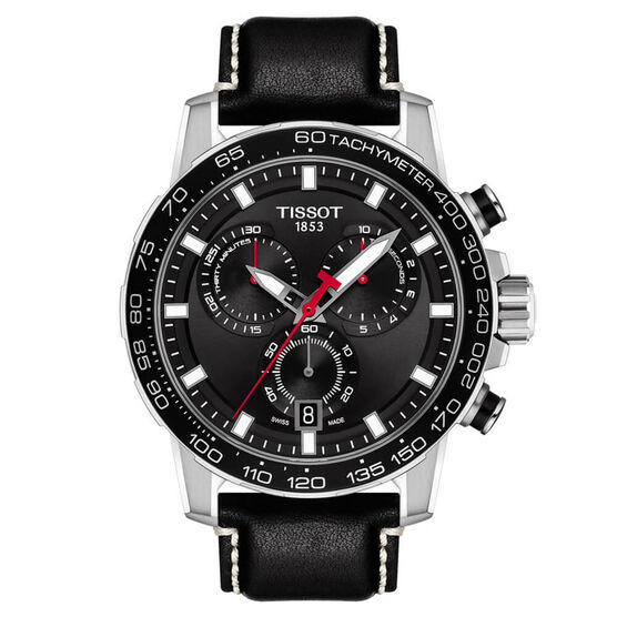 Tissot Supersport Chrono Black Dial Watch, 45.5mm