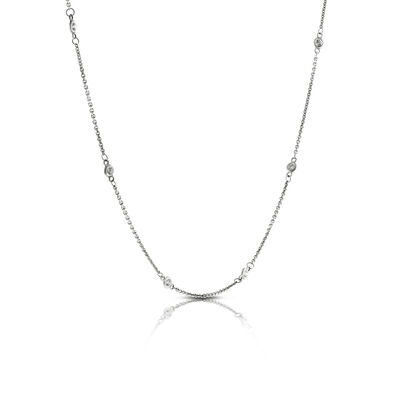 Diamond Station Necklace 14K, 1/3 ctw.