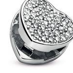 Pandora Reflexions™ Pavé CZ Heart Clip Charm