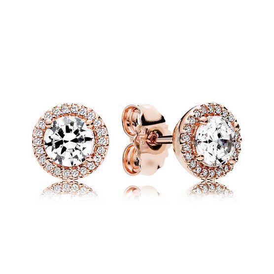 Pandora Round Sparkle Halo CZ Stud Earrings
