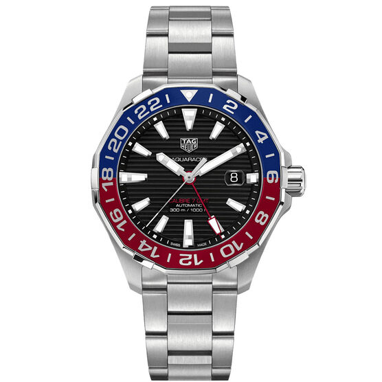 TAG Heuer Aquaracer Calibre 7 Twin-Time GMT Watch, 43mm