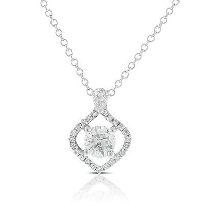 Ikuma Canadian Diamond Open Ogee Necklace 14K