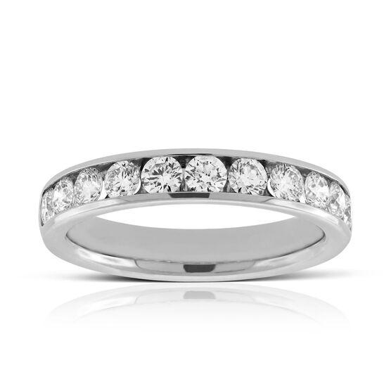 Channel Set Diamond Ring in Platinum, .94 ctw.