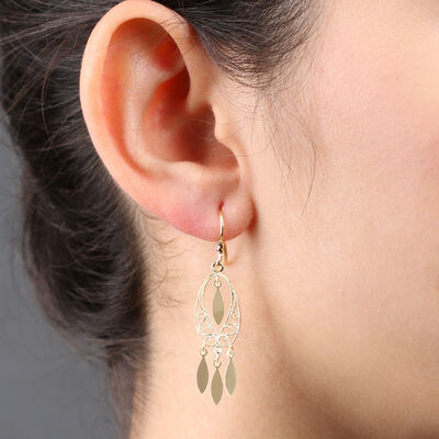 Filigree Dangle Earrings 14K