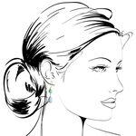 Lisa Bridge Chalcedony & Agate Dangle Earrings 14K