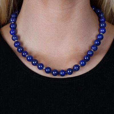 Lisa Bridge Lapis Bead Necklace