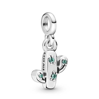 Pandora Me My Lovely Cactus Crystal Dangle Charm