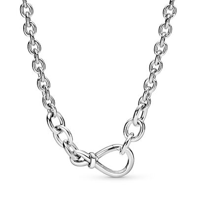 Pandora Chunky Infinity Knot Chain Necklace