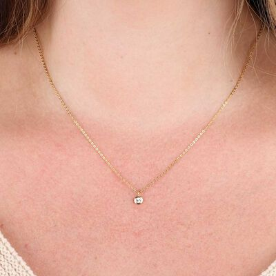 Diamond Cut Disc Pendant 14K