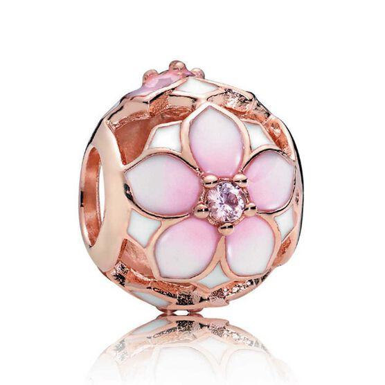 PANDORA Rose™ Magnolia Bloom Crystal & Enamel Charm