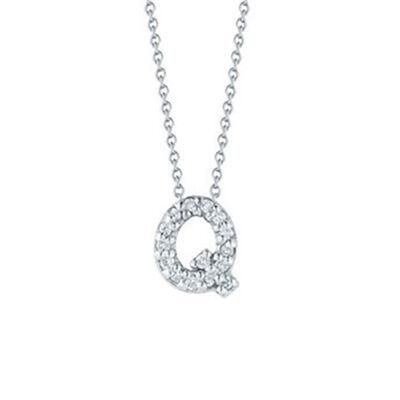 Roberto Coin Diamond Initial Pendant 18K Letter 'Q'