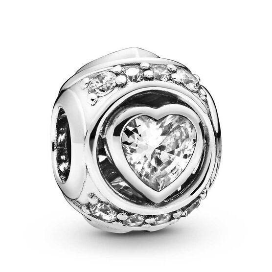 Pandora Elevated Heart CZ Charm