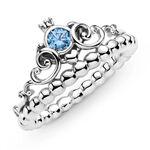 Pandora Disney Cinderella Blue Crystal Tiara Ring