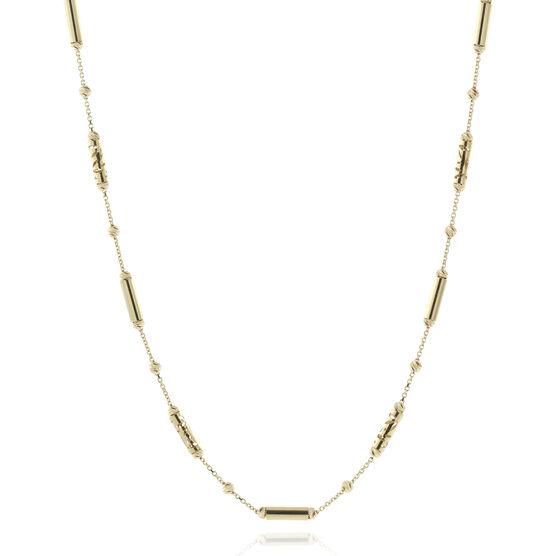 "Toscano Diamond-Cut Bead Necklace 18K, 18"""