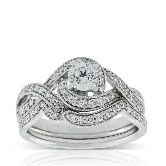 Crossover Diamond Bridal Set 14K