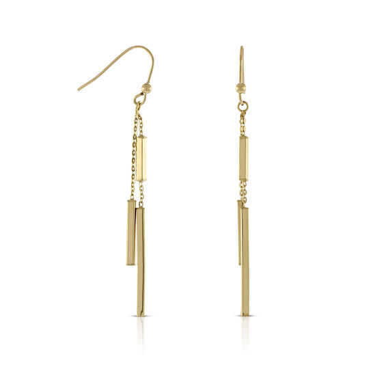 Bar Dangle Earrings 14K