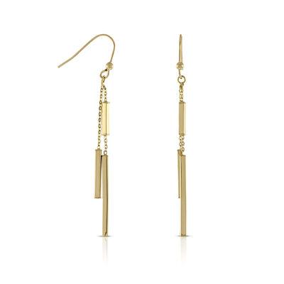 Bar Dangle Earrings 14K